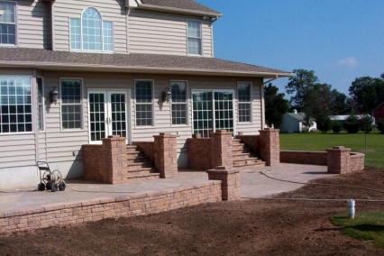Patio Walls and steps