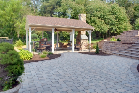 Paver Patio and Outdoor Living area