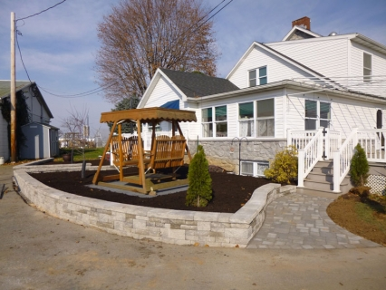Paver Walkway and Rised bed