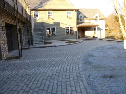 Driveway after Pavers installed