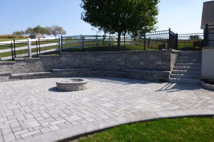 Large Paver Patio and FIre Pite